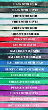 DIY Browband Supplies - 3x Meters 9mm Satin Ribbon GOLD Edge 8 Colours!