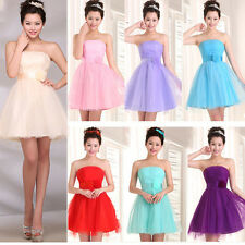 1 Bridesmaid Pleated Cocktail Prom Short Mini Gowns Formal Party Evening Dresses