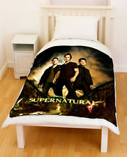 Supernatural Sam Dean Winchester Castiel Fleece Blanket / Fleece Throw