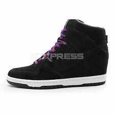 Nike WMNS Dunk Sky Hi [528899-014] NSW Casual Black/Sail-Court Purple