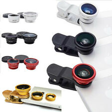 For Samsung Galaxy Note Tab Iphone 3in1 Fisheye + Wide Angle + Macro Clip Lens