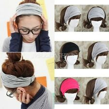 Cotton Headband Sweatband Sport Head Wrap for Tennis Badminton Yoga GYM Dance