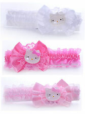 Hello Kitty Hairband Head band Satin Bow Gift Accessories Babies Toddlers Girls