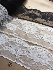 VINTAGE Ivory White Peach LACE RIBBON 50mm BRIDAL Classic decor Invitations card