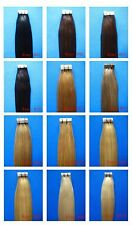 "Tape Skin 100% Real Human Hair Extensions Full Head 16""18""20""22""24""26"" 20Pcs"