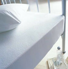 """10"""" Deep Waterproof Terry Towel Mattress Protector Fitted Bed Cover All UK Sizes"""