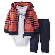 Carters Newborn 3 6 9 12 Months Cardigan Pants Set Baby Boy Clothes Outfit