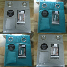 """EYELET FAUX SILK LINED CURTAINS PACK COLOUR  SILVER / GREY TEAL SIZE 66"""" X 54"""""""