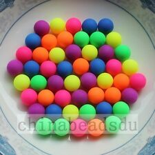 6/8/10/12MM Wholesale Acrylic Round Loose Colorful Charm Spacer Beads No Hole