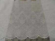 100% Cotton Embroidery lace Trim, Creamy or White, by Yd