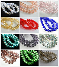 New 10Pcs 18x14mm Crystal Glass Faceted Loose Beads Spacer Rondelle Finding Lots