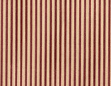 French Country Ticking Stripe Crimson Red Decorative Envelope Pillow Cotton