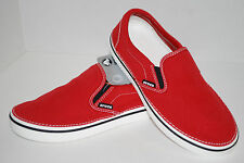 NWT CROCS HOVER SLIP ON CANVAS shoes 7 8 9 10 11 12 TRUE RED / WHITE sneakers