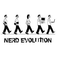 NERD EVOLUTION (nerds facebook evolve laptop tablet science computing) T-SHIRT
