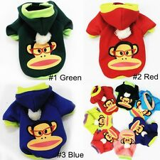 Brand New Monkey Pet Clothing Dog clothes Pet coat Poodle Sweater Hoodie #9002