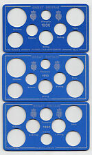 Coin Year Set Display Cards  - Choose your year 1900 to 2003