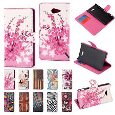 New Printed Wallet Magnetic Flip Stand Case Cover For Sony Xperia M2 Dual D2302