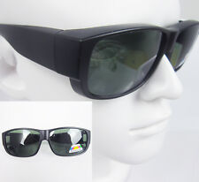 Outdoor Sport Polarized wrap around Sunglasses Clip on Glasses fit over eyeglass