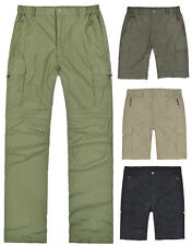 Mens Hiking Climbing Fishing Outdoor Convertiable Pants Trousers Shorts New