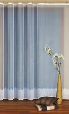 "Jacquard window MODERN NET CURTAIN price per metre drop 47"" 55"" 71"" WHITE"