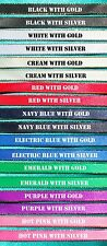 DIY Browband Supplies - 3x Meters 16mm Satin Ribbon SILVER Edge 8 Colours!