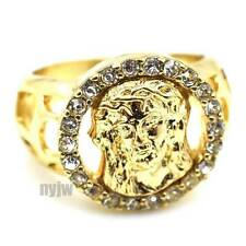 NEW MENS HIP HOP BIG CHUNKY GOLD JESUS FACE DESIGN RING KR009G