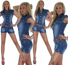 Overall Jumpsuit Hot Pants Shorts Jeans Hose Hotpants Damenjeans Damenhose ★ 6t