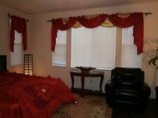 Royalty Custom Waterfall Window Valance Swags & Tails can fit any size of window