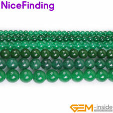 """Round Green Jade Loose Stone Beads For Jewelry Making 15"""" 4,6,8,10,12,14,16,18mm"""