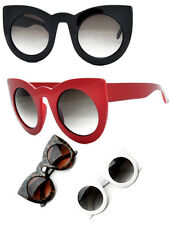 Cat Eye Sunglasses Black Red White Leopard Tortiseshell PinUp 50s Rockabilly Big