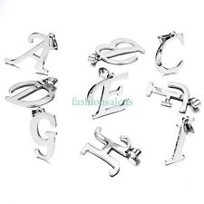 Stainless Steel Music Note A-Z Letters Pendant Necklace 26 Alphabets AVAILABLE