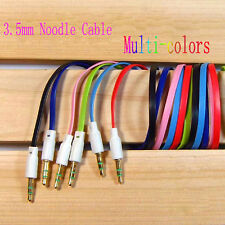 3.5mm AUX Cord Male to Male M/M Stereo Audio Flat Car Cable iPhone PC iPod MP3