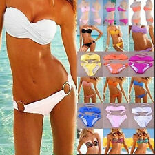 women Sexy bikini with PAD Hot swimsuits Padded Bra Low Rise swimwear beachwear