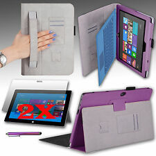"""For Microsoft Surface Pro Pro 2 10.6"""" Tablet Cover w/ Hand Strap, Stylus Holder"""