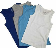 *NEW* BOYS EX H&M Cotton Tank Vest Top WHITE, GREY, NAVY 9-10 11-12 13-14 15
