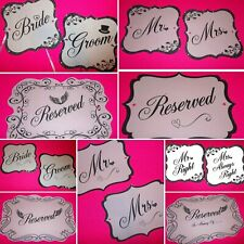 Couples CHAIR SIGNS Table Wedding ❤️ Reception CUSTOM Banners Props Decorations