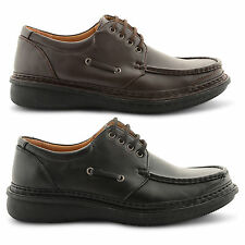 Mens Black / Brown Casual Office Lined Shoes Comfortable Smart Size 7 8 9 10 11