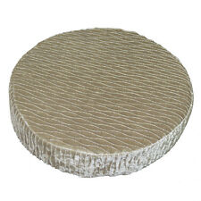 mp01r Pale Olive Gold Folds Shimmer Velvet Style 3D Round Seat Cushion Cover