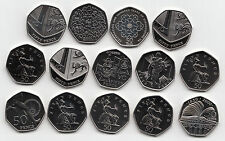 UK Fifty Pence Coins 50p 2000 to 2015 Choose your Year - Brillant Uncirculated