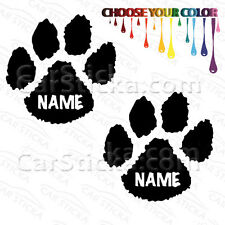 """2 of 5"""" Custom Name Dog Cat Paw /A pets animals car bumper wall stickers decals"""