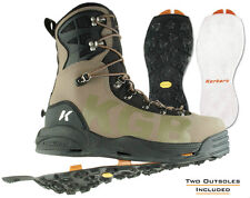 Korkers KGB Fishing Wading Boots Vibram IdroGrip + Felt Soles NEW DISCOUNTED