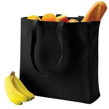 New QUADRA Canvas Classic Everyday Shopping Tote Bag in 2 Colours One Size