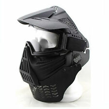Airsoft Tactical Military CS Game Full Face Mask Goggles & Neck Protect Guard GB