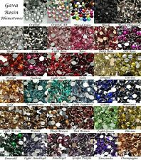 Wholesale 6.5mm 14 Facets Gava Resin Flat back Rhinestones 35 Colors Crystal