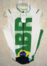 NEW Unisex Sz XS K SWISS MS Wind S/L Vest Brazil Triathlon Cycling White Green
