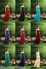 Stock Lace Flower Bridesmaid Dress Formal Evening Dress Size UK 6 8 10 12 14 16