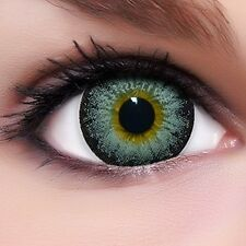 "Circle Lenses ""Grey"" Coloured Contacts Color Contact Lenses  + Free Case"