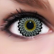 "Circle Lenses ""Twirl Grey"" Coloured Contacts Color Contact Lenses  + Free Case"