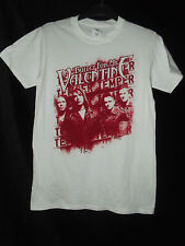 NEW BULLET FOR MY VALENTINE TEMPER TEMPER WHITE TOUR T-SHIRT TEE - SZ S & M