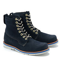 5129A New Timberland Men's Earthkeepers Unlined Plain Toe Navy Nubuck Boots 8-13